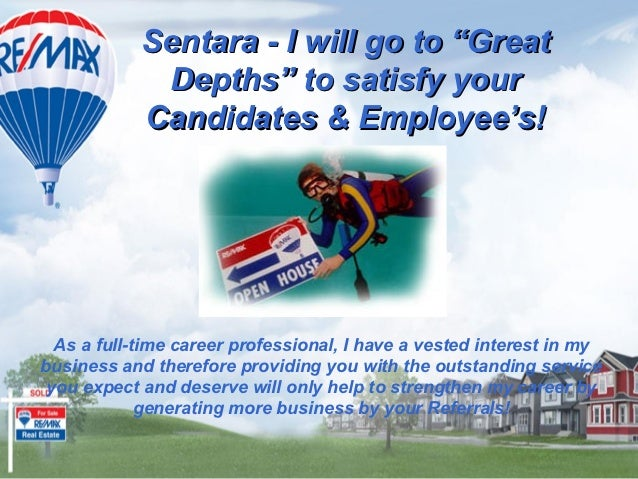 "Sentara - I will go to ""Great             Depths"" to satisfy your            Candidates & Employee's!  As a full-time care..."