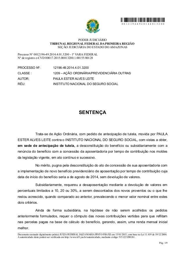 0 0 1 2 1 9 6 4 9 2 0 1 4 4 0 1 3 2 0 0 PODER JUDICIÁRIO TRIBUNAL REGIONAL FEDERAL DA PRIMEIRA REGIÃO SEÇÃO JUDICIÁRIA DO ...