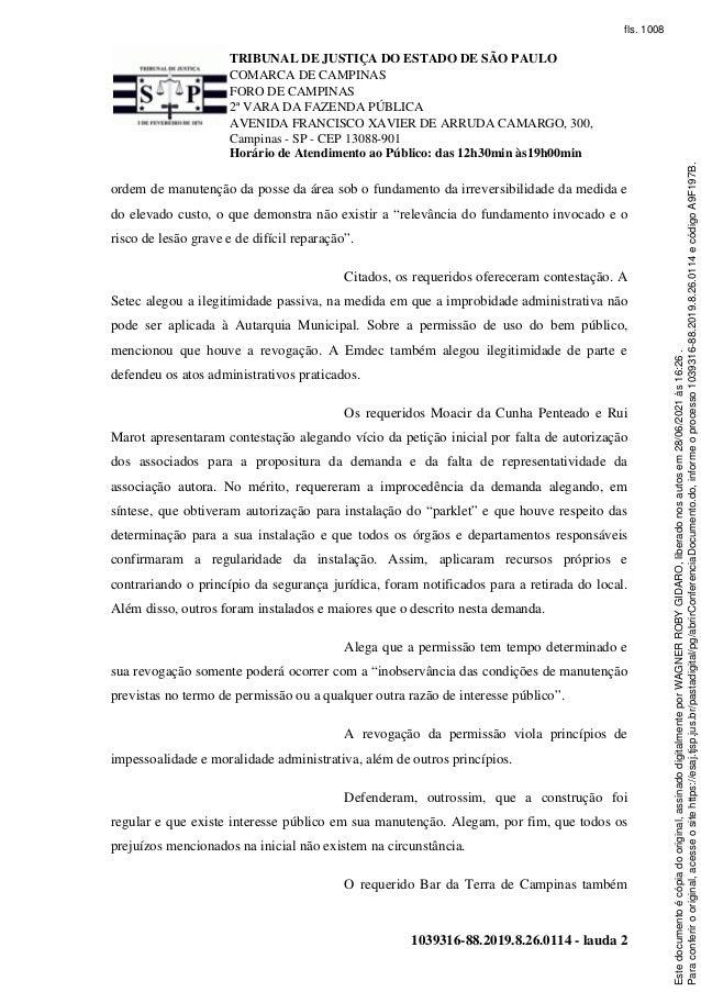 Parklet Cambuí -Sentença 28/6/21 Slide 2