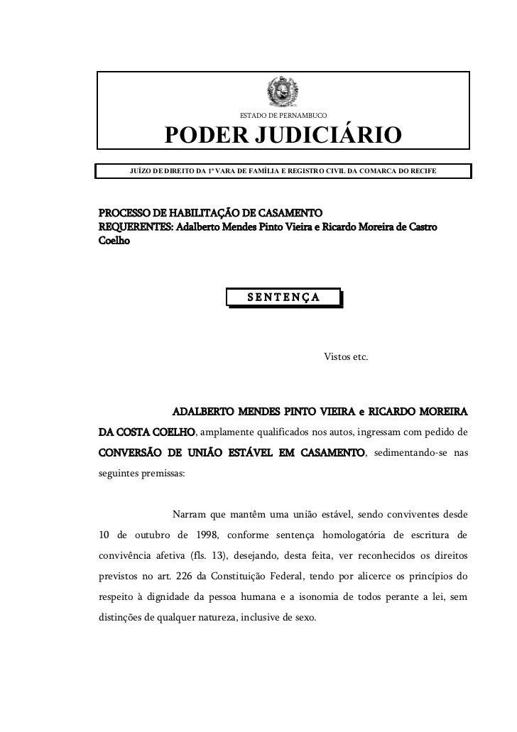 ESTADO DE PERNAMBUCO               PODER JUDICIÁRIO       JUÍZO DE DIREITO DA 1ª VARA DE FAMÍLIA E REGISTRO CIVIL DA COMAR...