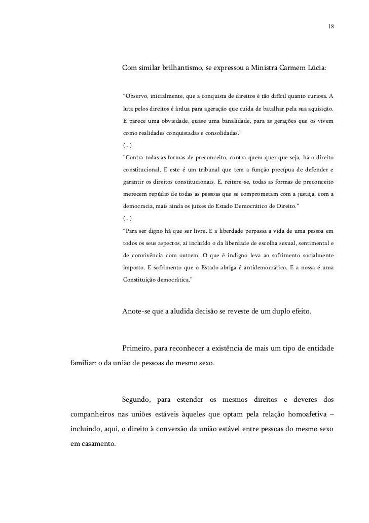 """18                Com similar brilhantismo, se expressou a Ministra Carmem Lúcia:                """"Observo, inicialmente, q..."""