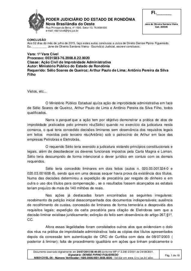 PODER JUDICIÁRIO DO ESTADO DE RONDÔNIA Nova Brasilândia do Oeste Rua Príncipe da Beira, nº 1500, Setor 13, 76.958-000 e-ma...