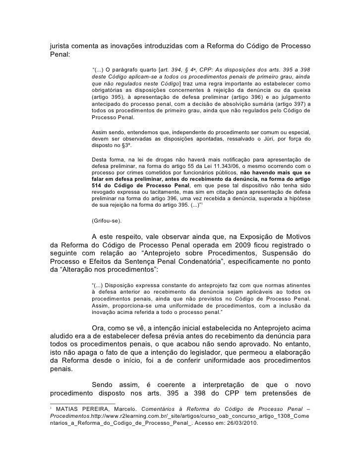 Artigo 397 cpp