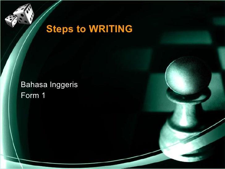 Steps to WRITING Bahasa Inggeris Form 1