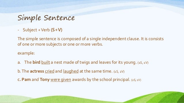 basic sentence structure If you are learning english as a second language, it is important for you to study  basic sentence structure in order to construct your sentences.