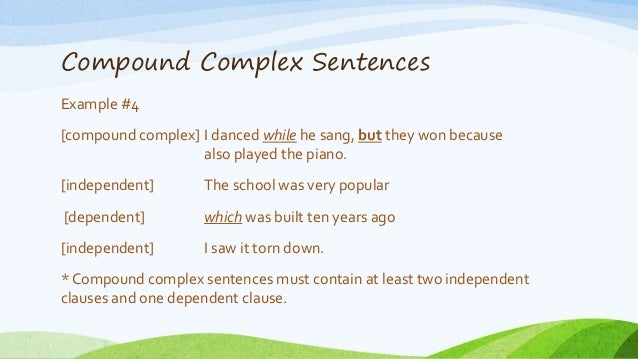42 Compound Complex Sentences Example