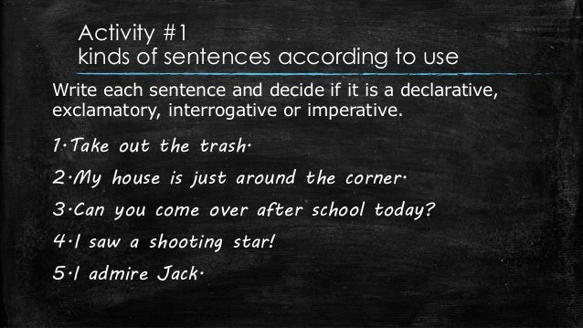 what are the different types of sentences
