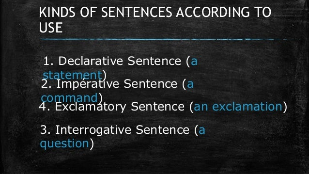 4 different types of sentences
