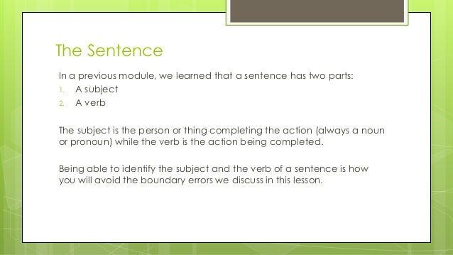 Sentence boundaries Slide 3