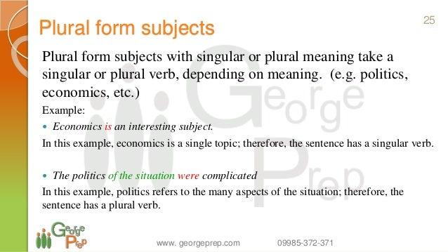 Subject-verb agreement | business communication: communication.