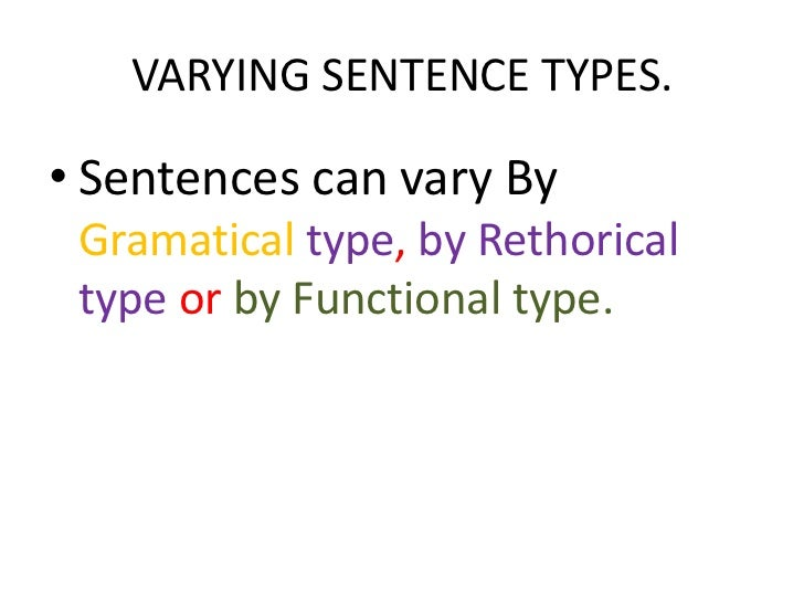 Sentence Emphasis And Vitality