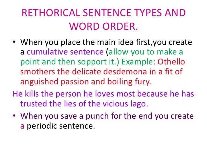 Sentence emphasis and vitality
