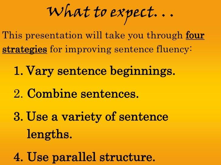 Sentence fluency