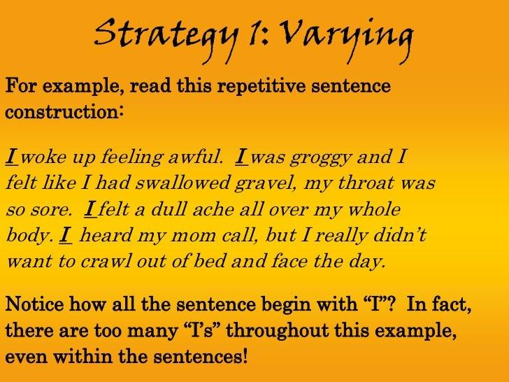 Sentence fluency – Sentence Fluency Worksheets