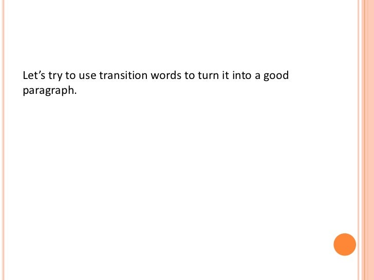 good transition words for but