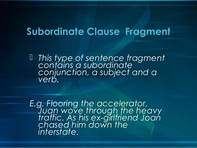 Sentence fragments for Sentence of floor
