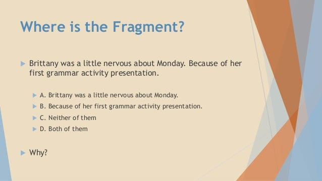 how to find sentence fragments