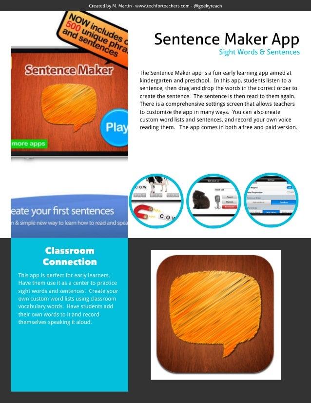 Sentence Maker App Review