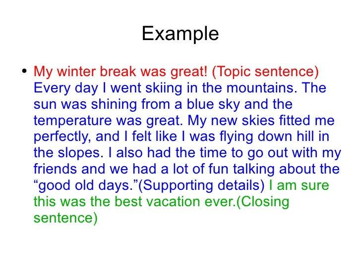 3 paragraph essay example