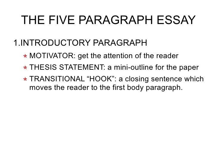 sentence paragraph essay  8 the five paragraph essay