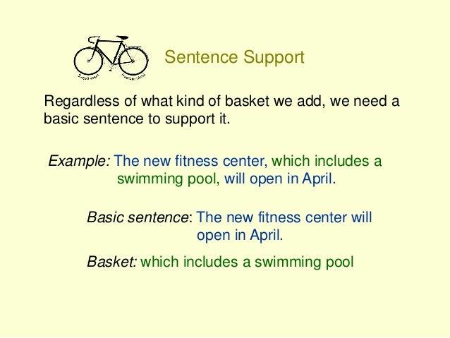 Bike Sentences Power Point