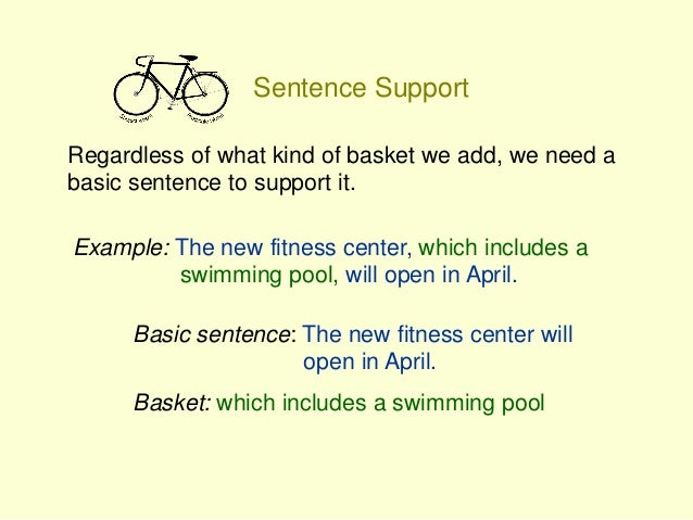 Bike Sentences