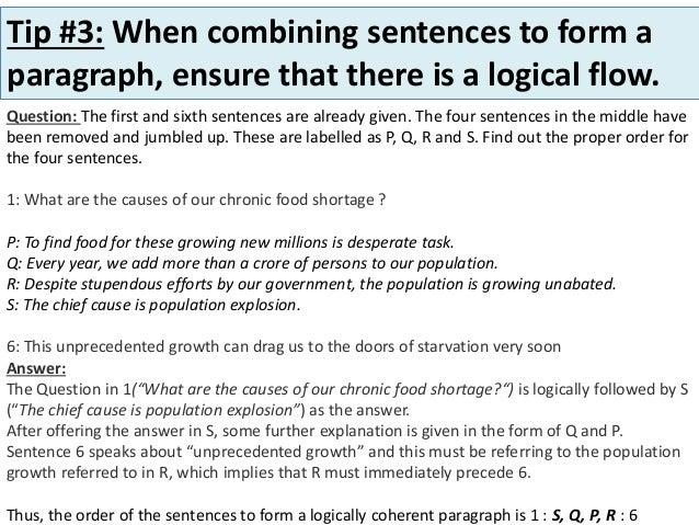 Tips on solving MCQ's Sentences &