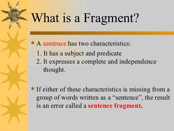 Sentences & fragments