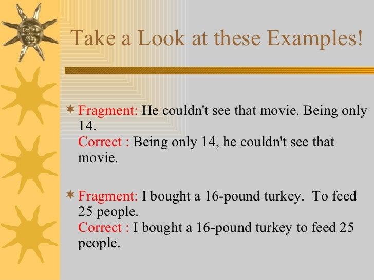 sentences & fragments