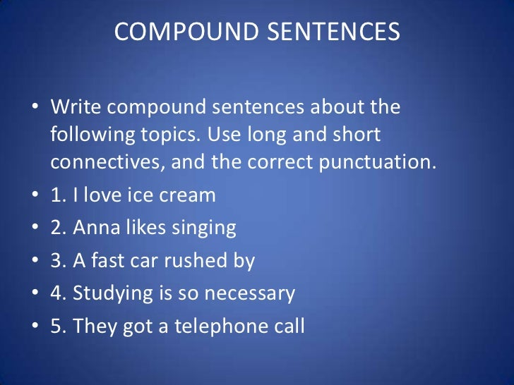 sentences simple and compound
