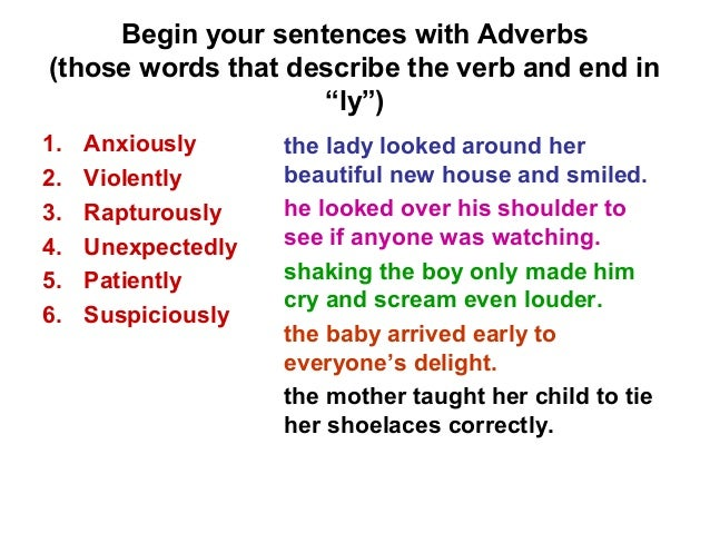 how to start off a sentence