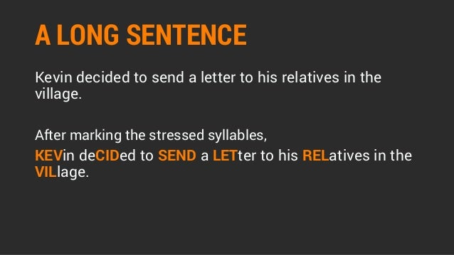 Reading aloud part 3 sentence stress o 39 level oral for Terrace in a sentence