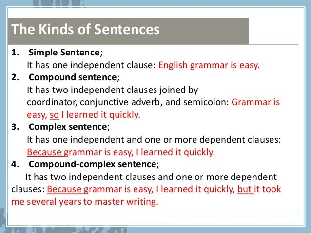 Sentence structure (AdeS)
