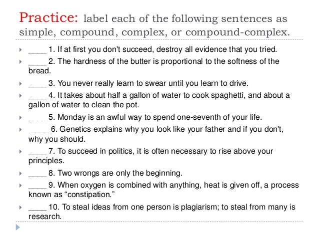 Academic writing sentence structure exercises online