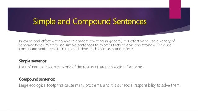 sentence structures and vocabulary for cause and effect essay 3