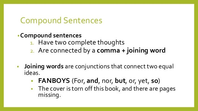 write a simple sentence with a compound verb