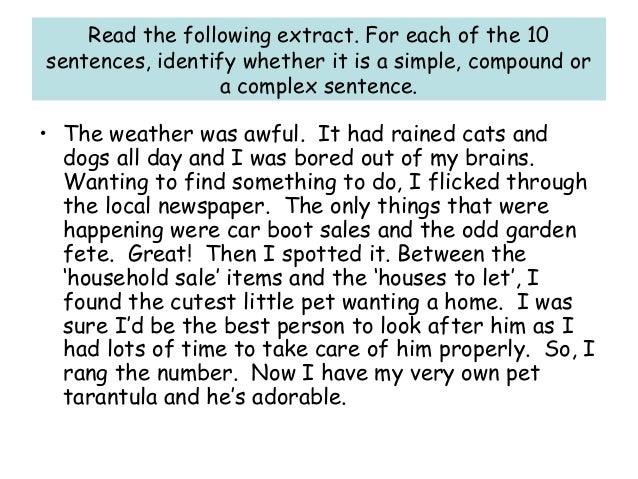 Commas in Complex Sentences