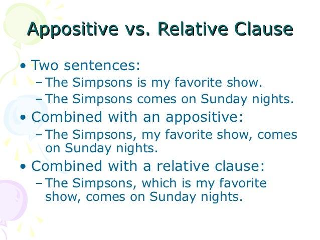 Relative vs. Appositive