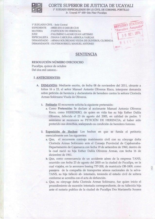 CORTE SUPERIOR DE JUSTICIA DE UCAYALI  1° JUZGADO ESPECIALIZADO EN L0 CIVIL DE CORONEL PORTILLO Jr.  Ucayali N° 499-2do Pi...