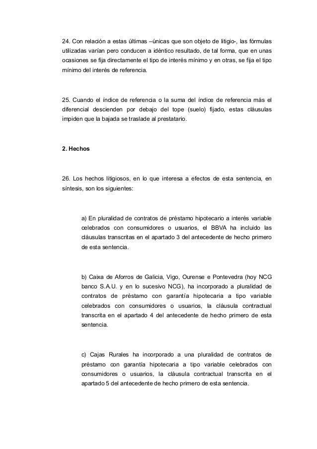 Sentencia ts que anula cl usulas suelo for Sentencia nulidad clausula suelo