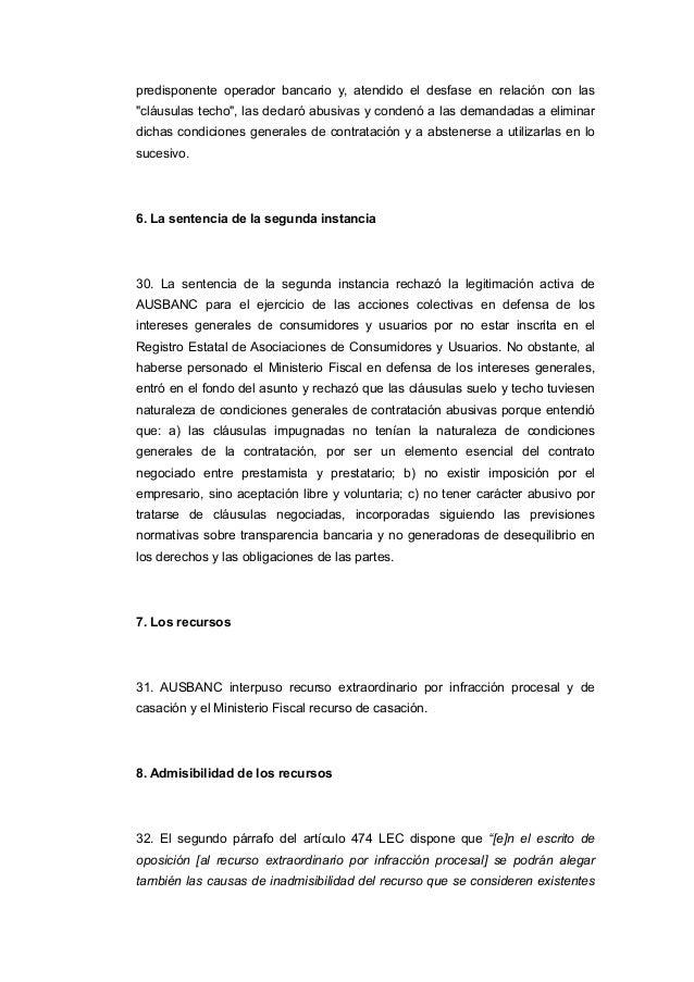 Sentencia ts que anula cl usulas suelo for Escrito clausula suelo