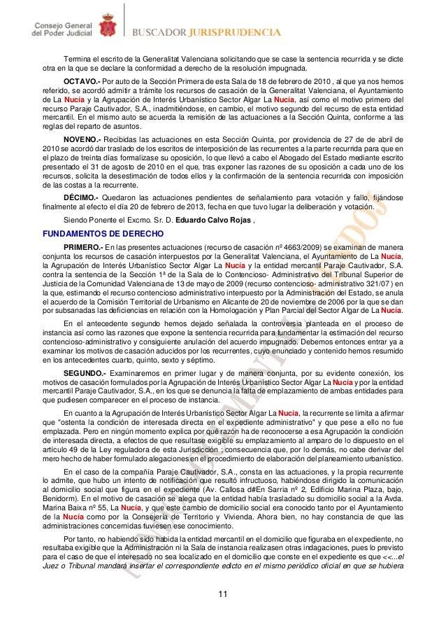 Termina el escrito de la Generalitat Valenciana solicitando que se case la sentencia recurrida y se dicteotra en la que se...