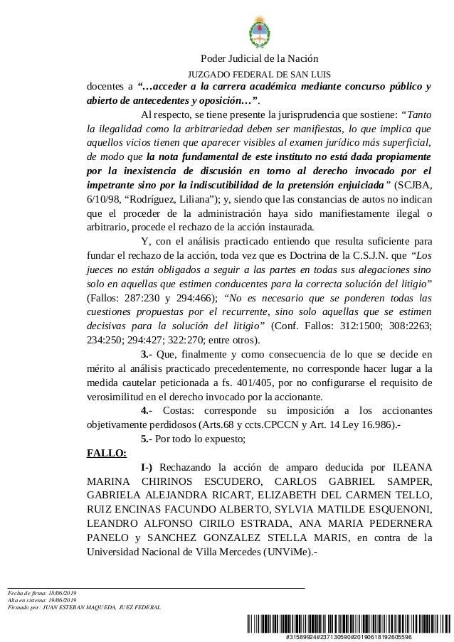"""#31589924#237130590#20190618192605596 Poder Judicial de la Nación JUZGADO FEDERAL DE SAN LUIS docentes a """"…acceder a la ca..."""