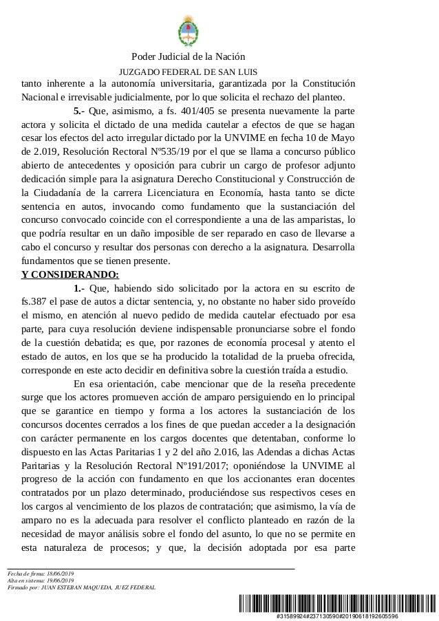 #31589924#237130590#20190618192605596 Poder Judicial de la Nación JUZGADO FEDERAL DE SAN LUIS tanto inherente a la autonom...