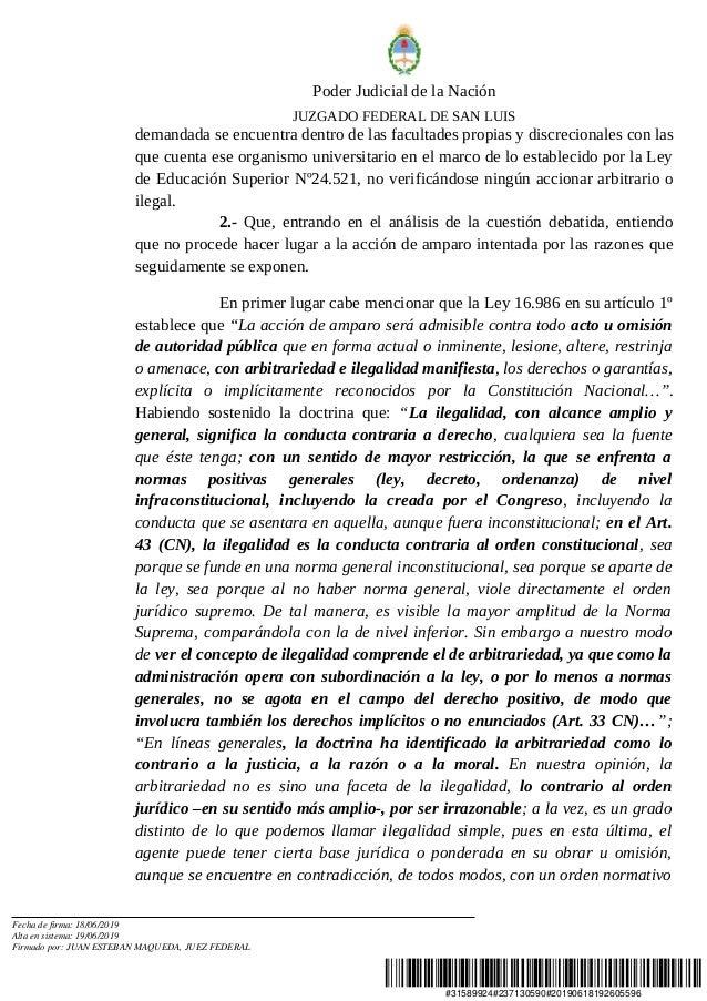 #31589924#237130590#20190618192605596 Poder Judicial de la Nación JUZGADO FEDERAL DE SAN LUIS demandada se encuentra dentr...
