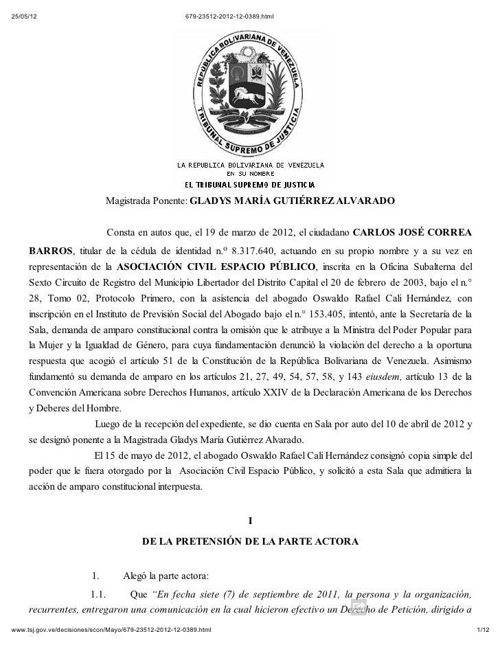 25/05/12                                              679-23512-2012-12-0389.html                              Magistrada ...