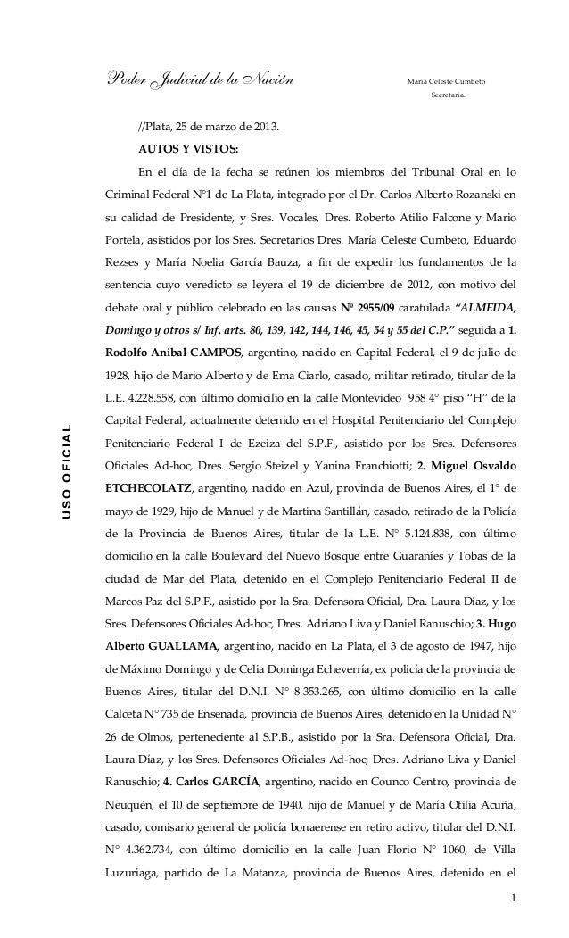 Poder Judicial de la Nación                                     María Celeste Cumbeto                                     ...