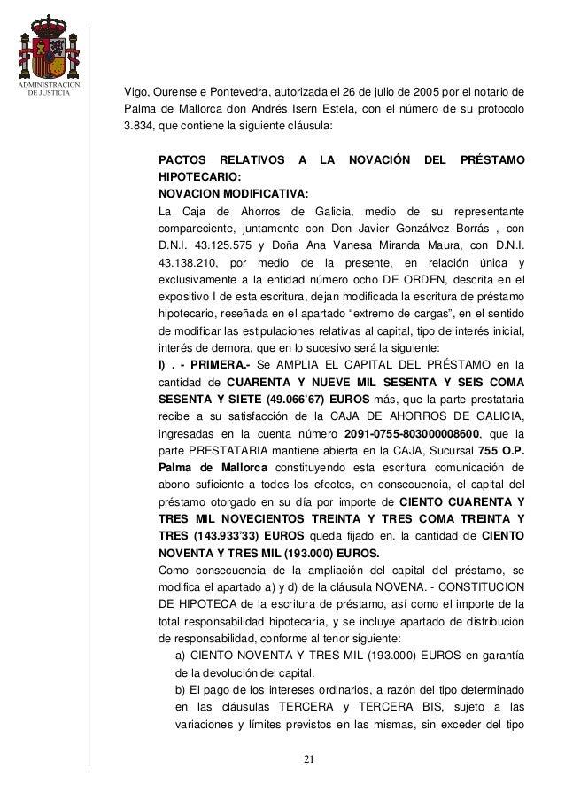 Sentencia clausula suelo for Clausula suelo galicia