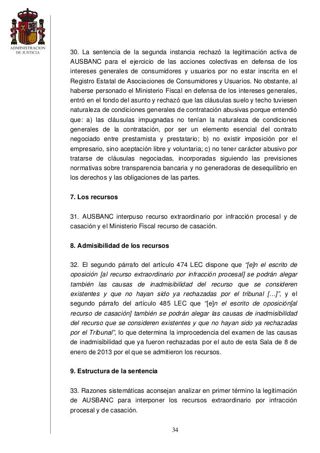 Sentencia clausula suelo for Clausula suelo y techo