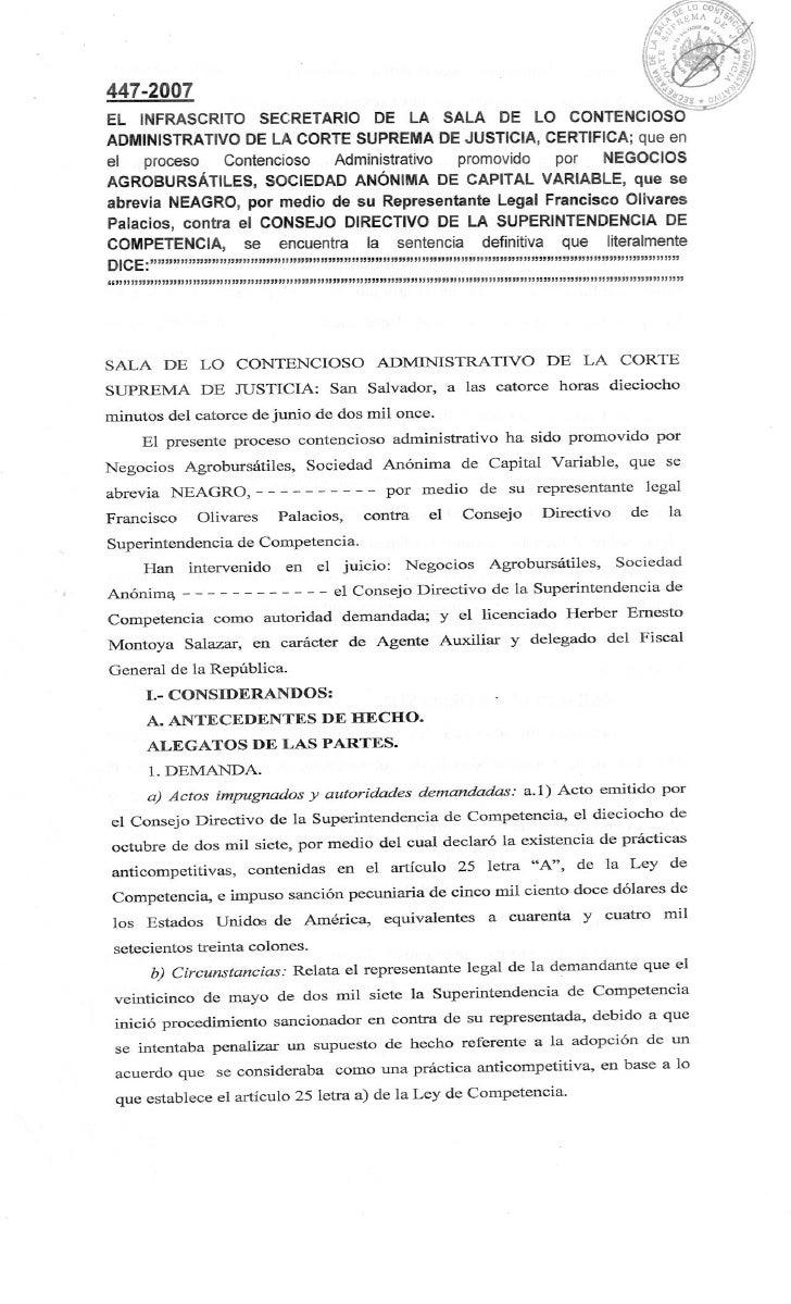 Sentencia contencioso 447-2007